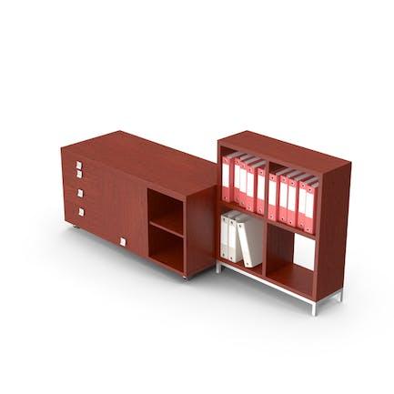 Conjunto de gabinete de oficina