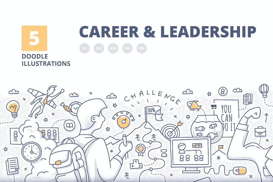 5 Career & Leadership Illustrated Concepts