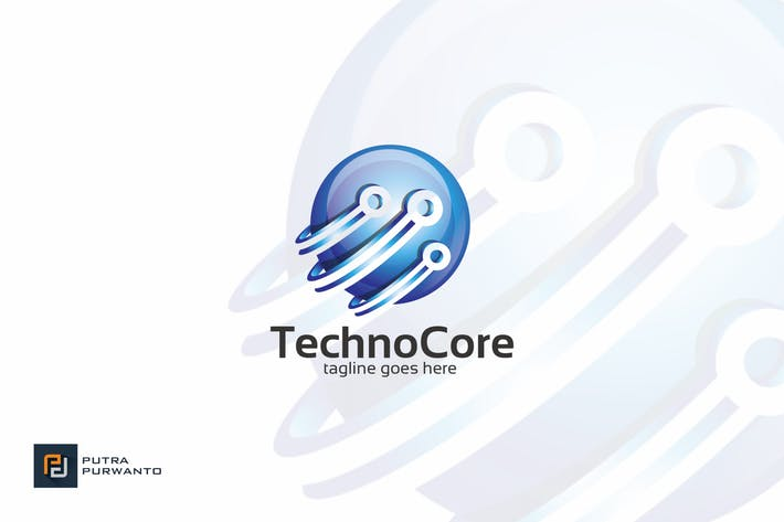 Thumbnail for Techno Core - Logo Template