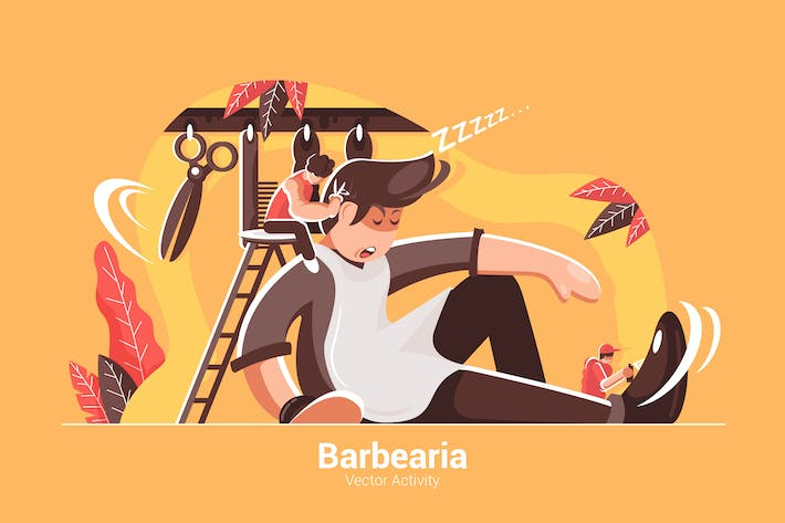 Barbearia - Vector Illustration