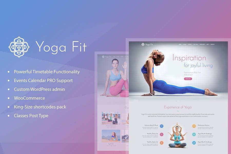 Yoga Fit - Sport, Fitness & Gym WordPress Thema