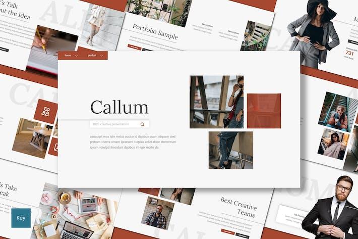 Thumbnail for Callum - Creative Keynote Template