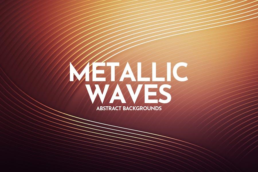 Metallic Linear Waves Background