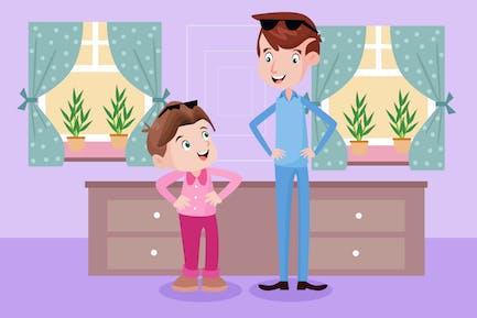 Like Father Like Son - Kids Illustration