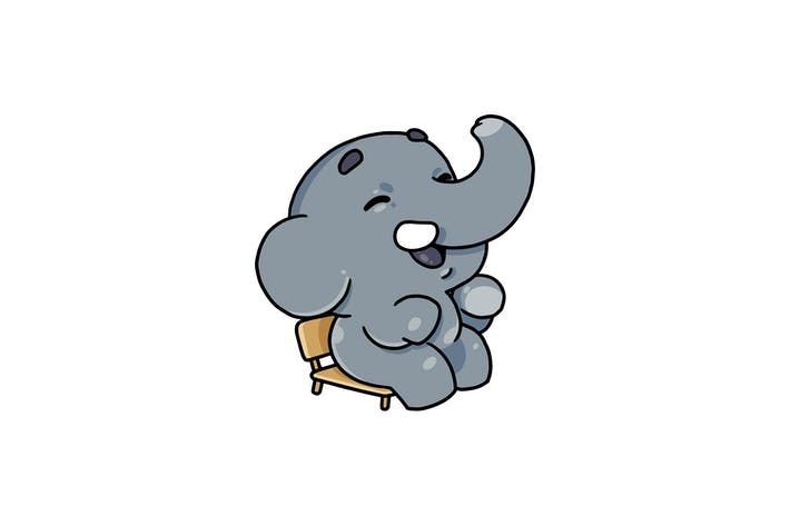 Thumbnail for Sitting Elephant - Character RG