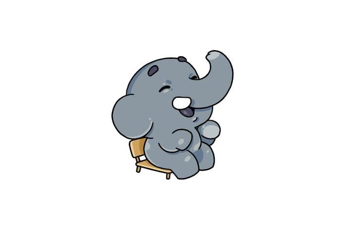 Sitting Elephant - Character RG