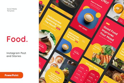 Food Instagram Post and Stories Powerpoint