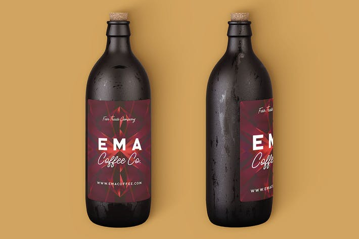 Thumbnail for Coffee or Beer Bottle Mock-up 2