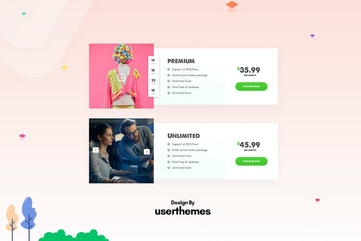 Thumbnail for Creative Pricing Table UX PSD Template
