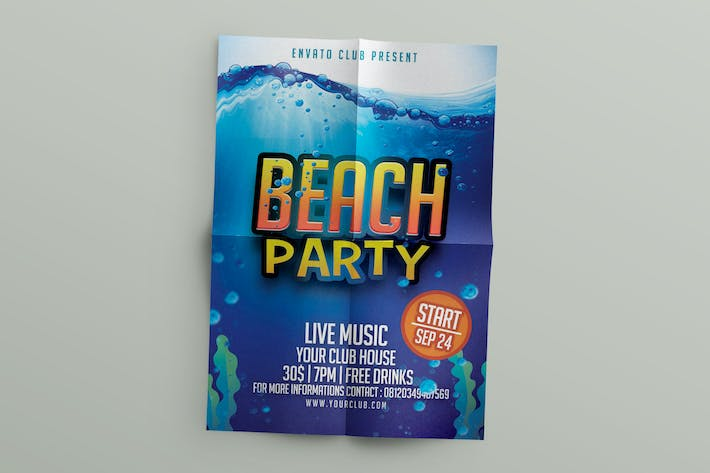 Thumbnail for Beach Flyer Template