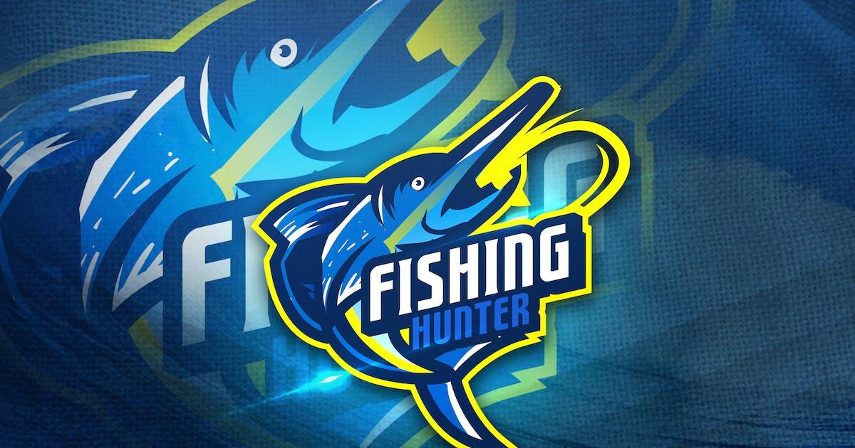 Download Fishing Hunter - Mascot Sport Logo by aqrstudio