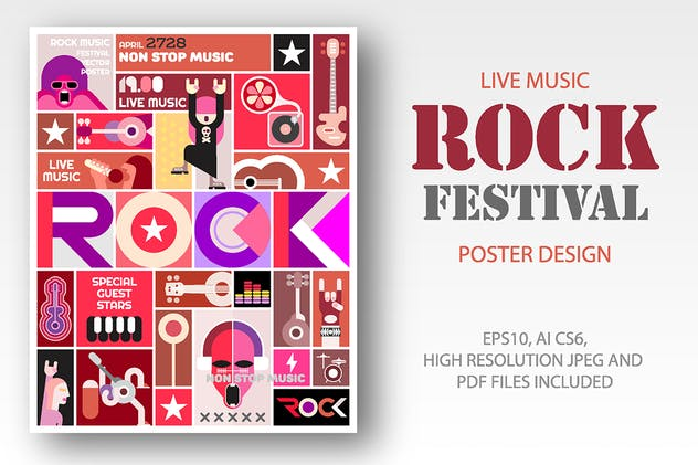 Rock Festival / Rock Concert poster design