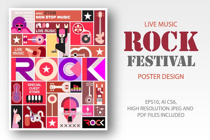 Thumbnail for Rock Festival / Rock Concert poster design