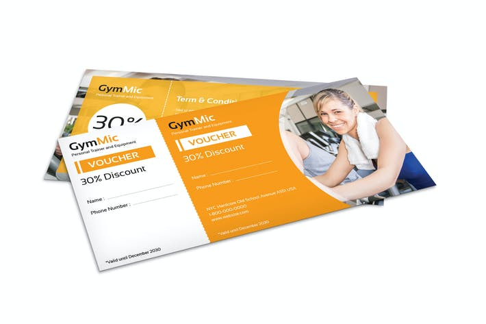 Gym Fitness Sport Center Voucher