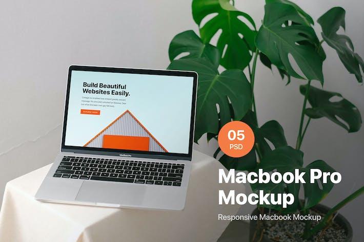 Thumbnail for Macbook Pro Mockup Scene