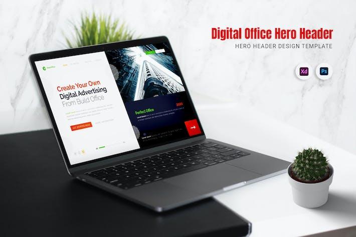 Thumbnail for En-tête numérique de héros Office