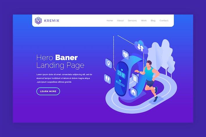 Kremix - Hero Banner Template