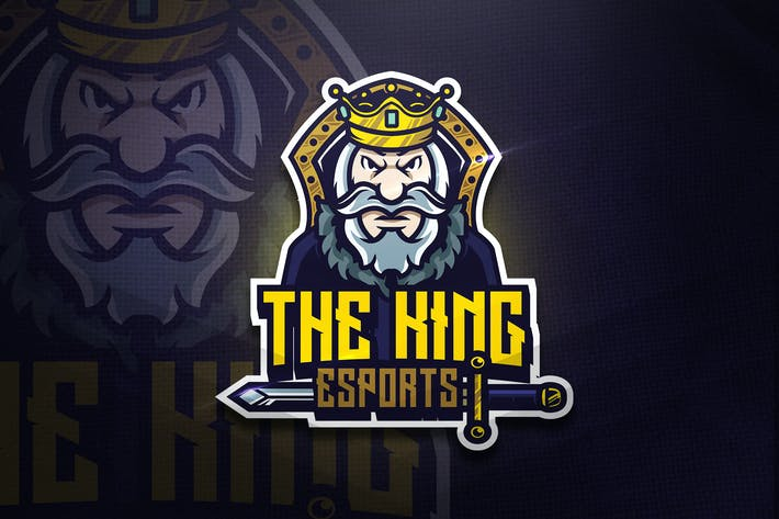 Cover Image For The King - Mascot & Esport Logo