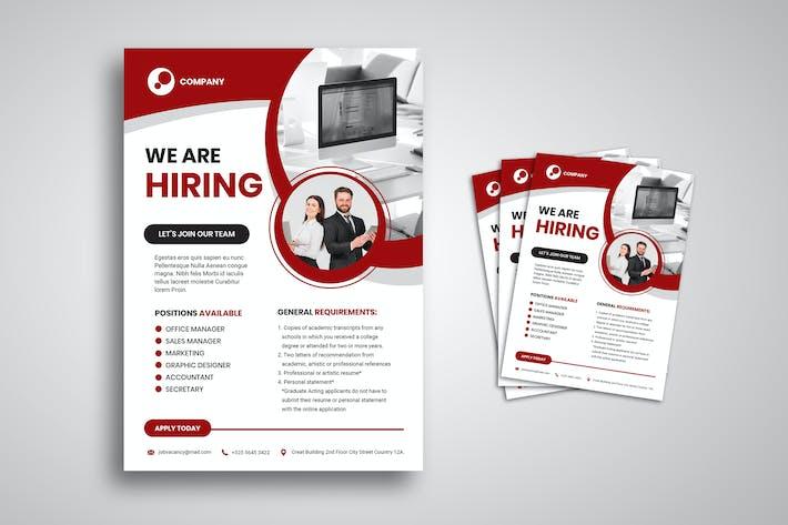 Thumbnail for dépliant sur l'embauche d'emploi