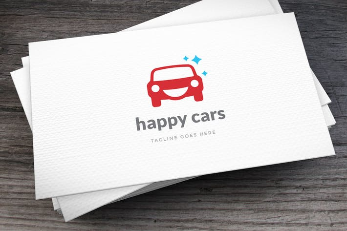 Thumbnail for Happy Cars Logo Template