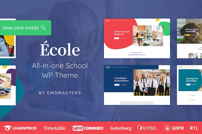 Thumbnail for Ecole - Education & School WordPress Theme
