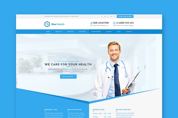 Thumbnail for Maxi Health - Medical & Health PSD Template