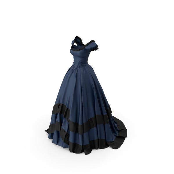 Blue Retro Gown