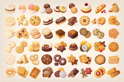 Große Kekse und Kekse