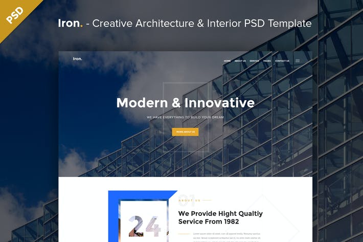 Thumbnail for Creative Architecture & Interior PSD Template