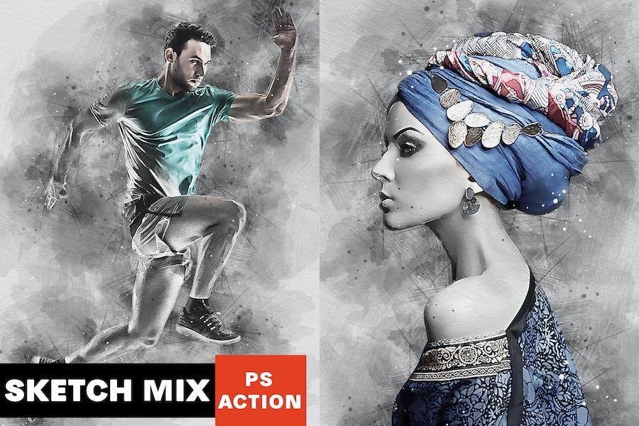 Sketch Mix Photoshop Action