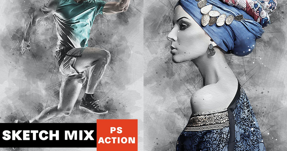 Download Sketch Mix Photoshop Action by AB-Designer