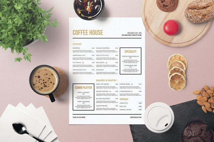Thumbnail for Minimalist Coffee Menu