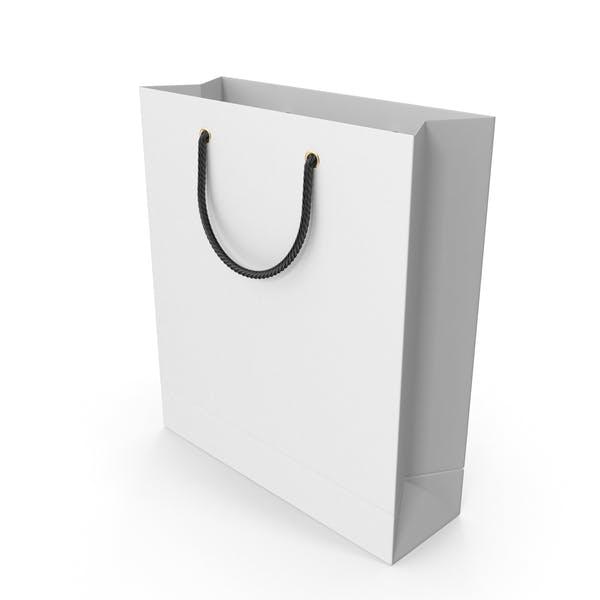 Белая сумка для покупок с черными ручками