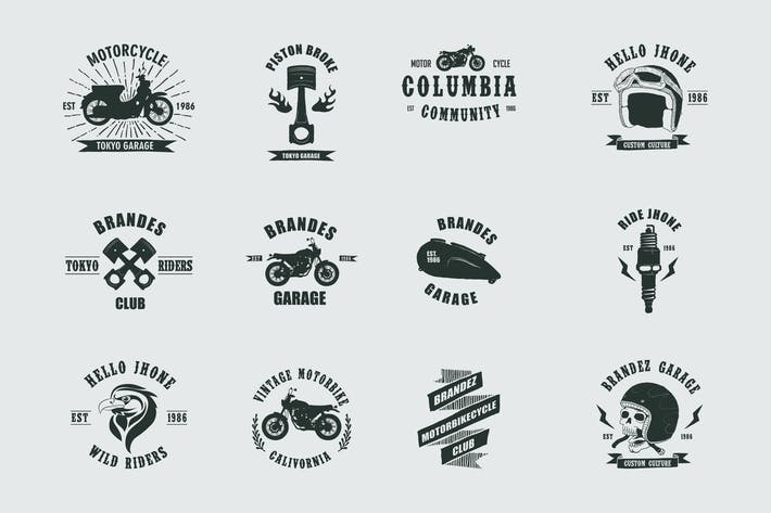 Thumbnail for Vintage Badges Motorcycle