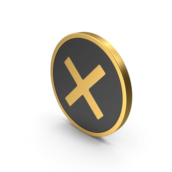 Gold Icon X Mark
