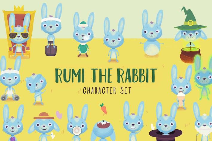 Thumbnail for Bunny Rabbit Cartoon Character Set