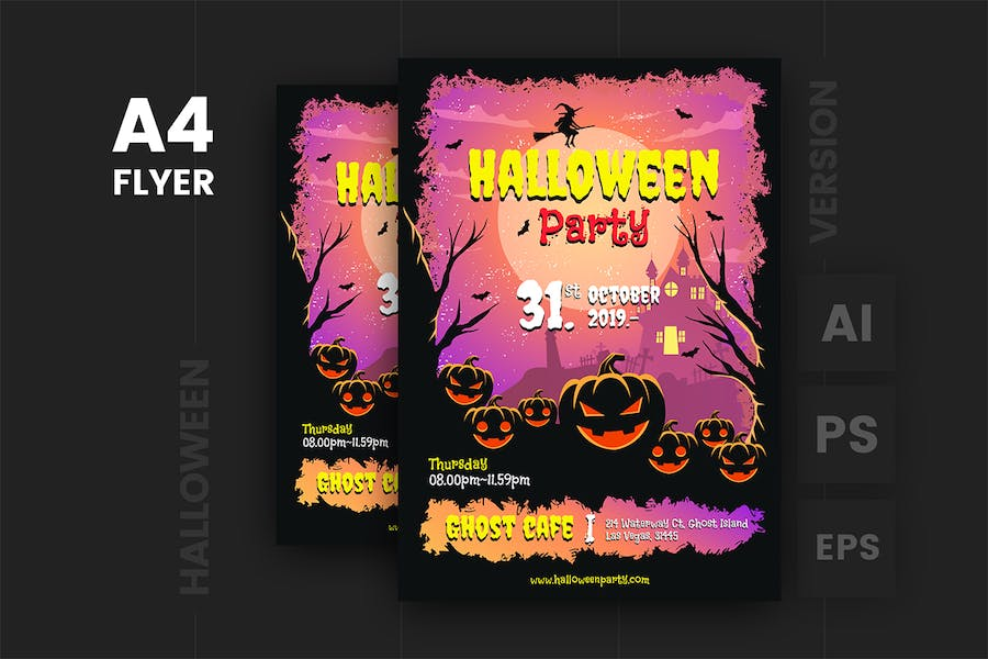 Halloween Flyer Template v.1 - product preview 0