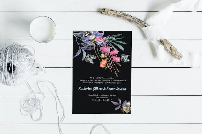 Thumbnail for Wild Floral Wedding Invitation Card