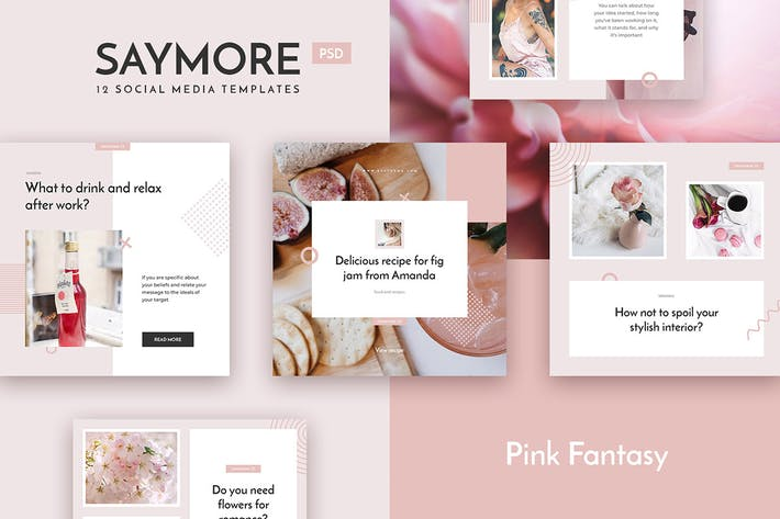 Thumbnail for Saymore Pink Fantasy Templates