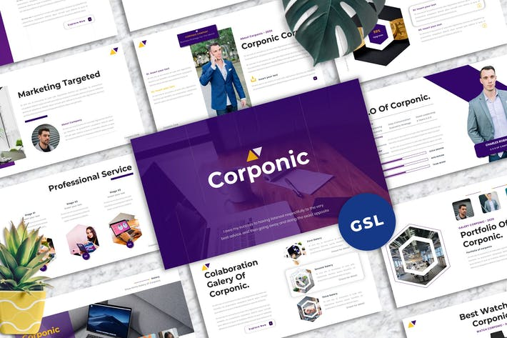 Thumbnail for Corponic - Бизнес Googleslide Шаблон
