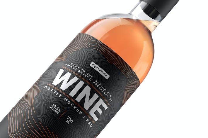 Thumbnail for Wine Bottle Mock-Up Template