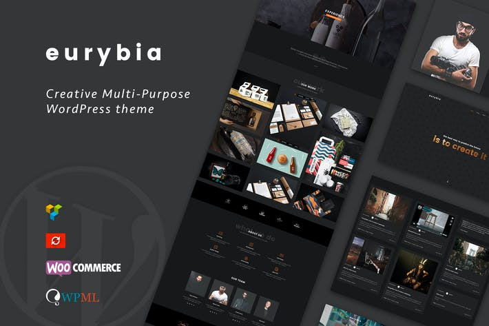 Thumbnail for Eurybia - Creative WordPress Portfolio Thema
