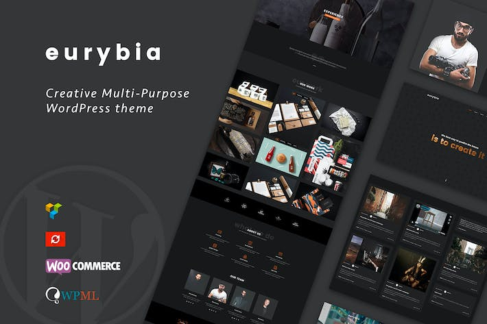 Cover Image For Eurybia - Creative WordPress Portfolio Theme