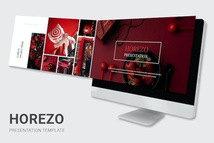 Horezo - красный цвет тон шаг палубы Powerpoint