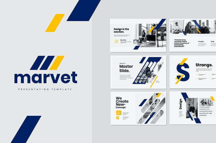Thumbnail for Marvet - Business Marketing Powerpoint