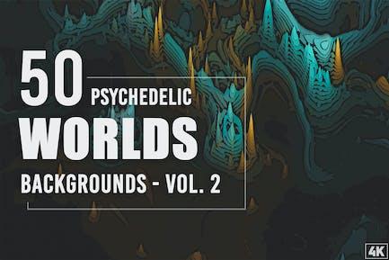 50 psychedelische Welten-Hintergründe - Band 2