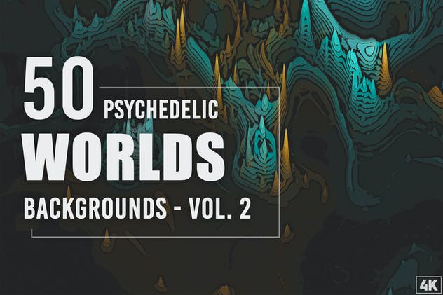 50 Psychedelic Worlds Backgrounds - Vol. 2