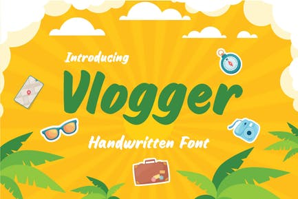 Vlogger - Fun Headline Youtube Handwritten Font