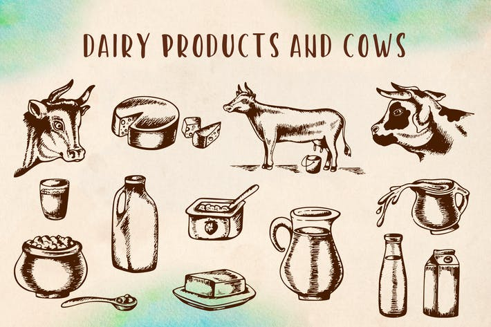 Thumbnail for Vintage Dairy Products and Cows