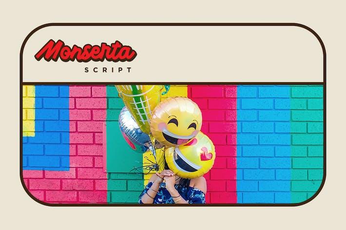 Thumbnail for Monserta - Square Fun Script Font